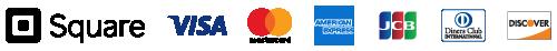 Square|VISA, Mastercard, American Express, JCB・Diners Club・Discover